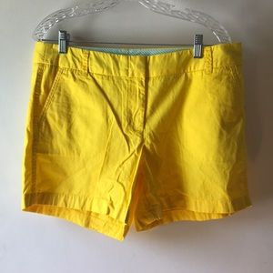 Yellow J Crew factory shorts. New With tags. Sz 12